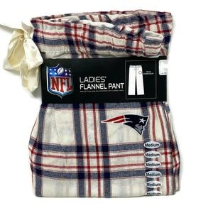 NFL New England Patriots Pajama Pants Medium Plaid